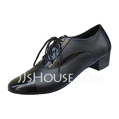 Men's Real Leather Heels Latin Ballroom Practice Dance Shoes