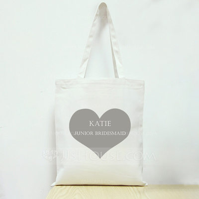 Bridesmaid Gifts - Personalized Canvas Style Cotton Tote Bag