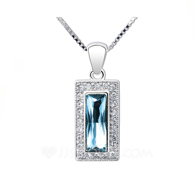 Gorgeous Platinum Plated With Crystal Ladies' Necklaces