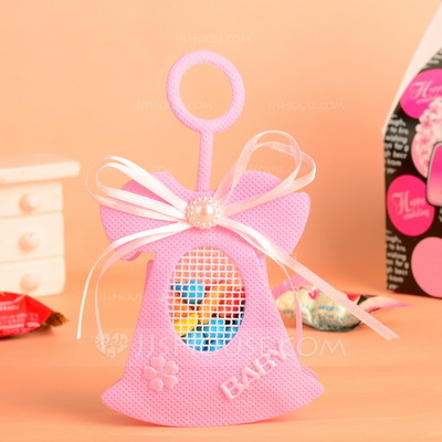 """""""Baby"""" Handbag shaped Favor Bags With Pearl/Bow (Set of 12)"""