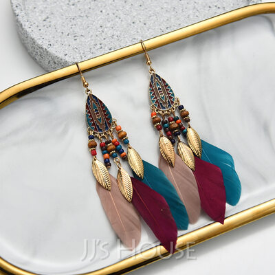 Feather Design Alloy/Feather Earrings