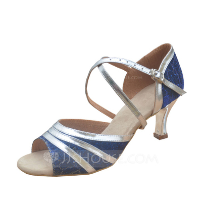 Women's Leatherette Patent Leather Heels Sandals Latin Dance Shoes