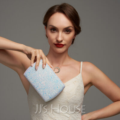 Sequin/Sparkling Glitter/Abrasive Cloth With Sequin Clutches/Satchel