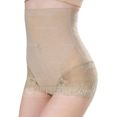 Women Sexy/Casual Spandex Breathability High Waist Panty Shapers With Jacquard Shapewear