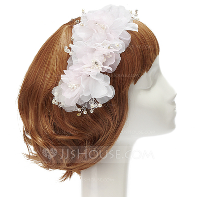 Beautiful Rhinestone/Pearl/Chiffon Flowers & Feathers