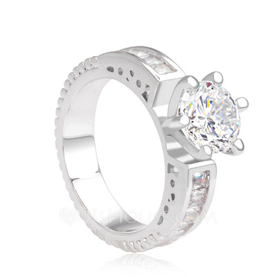 Beautiful Copper/Platinum Plated With Cubic Zirconia Ladies' Rings
