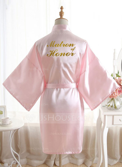 Non-personalized Polyester Bridesmaid Glitter Print Robes