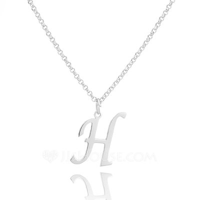 Christmas Gifts For Her - Custom Sterling Silver Initial Necklace