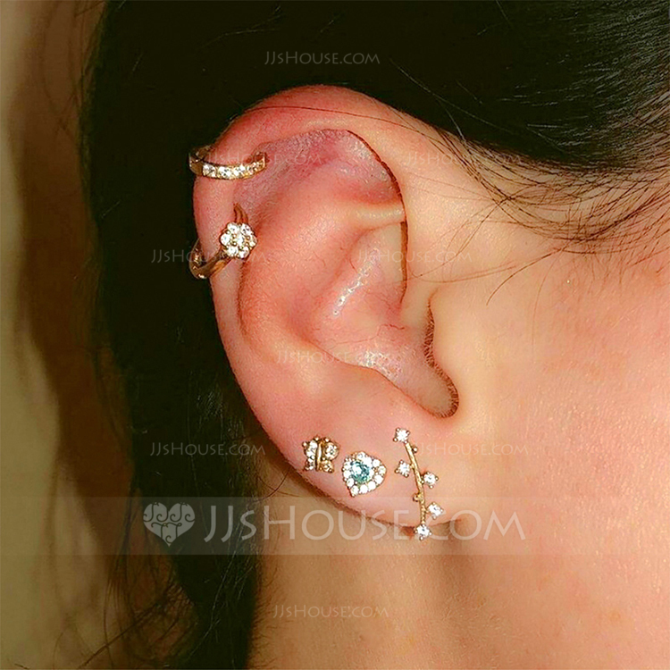 Beautiful Alloy Rhinestones With Rhinestone Women's Fashion Earrings (Set of 5)