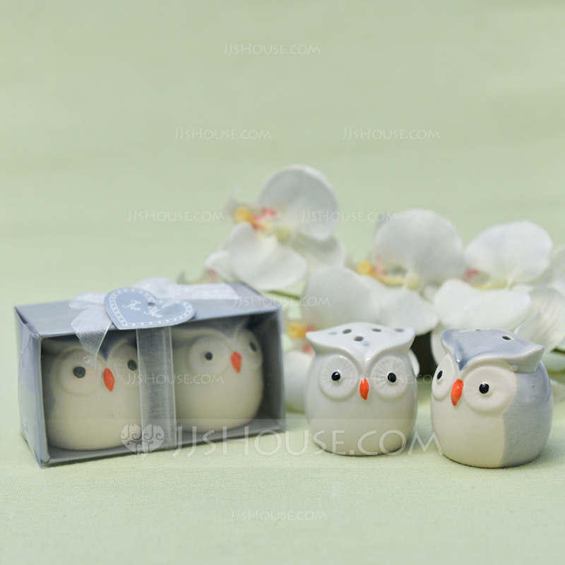 """Love Birds In The Window"" Lovely Birds Ceramic Salt & Pepper Shakers (Sold in a single piece)"