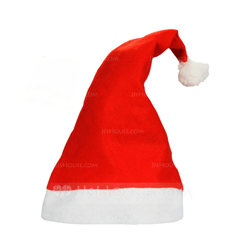a7c72fd2a12 Red Felt Christmas Santa Hats Happy New Yer (Sold in a single piece).  Loading zoom