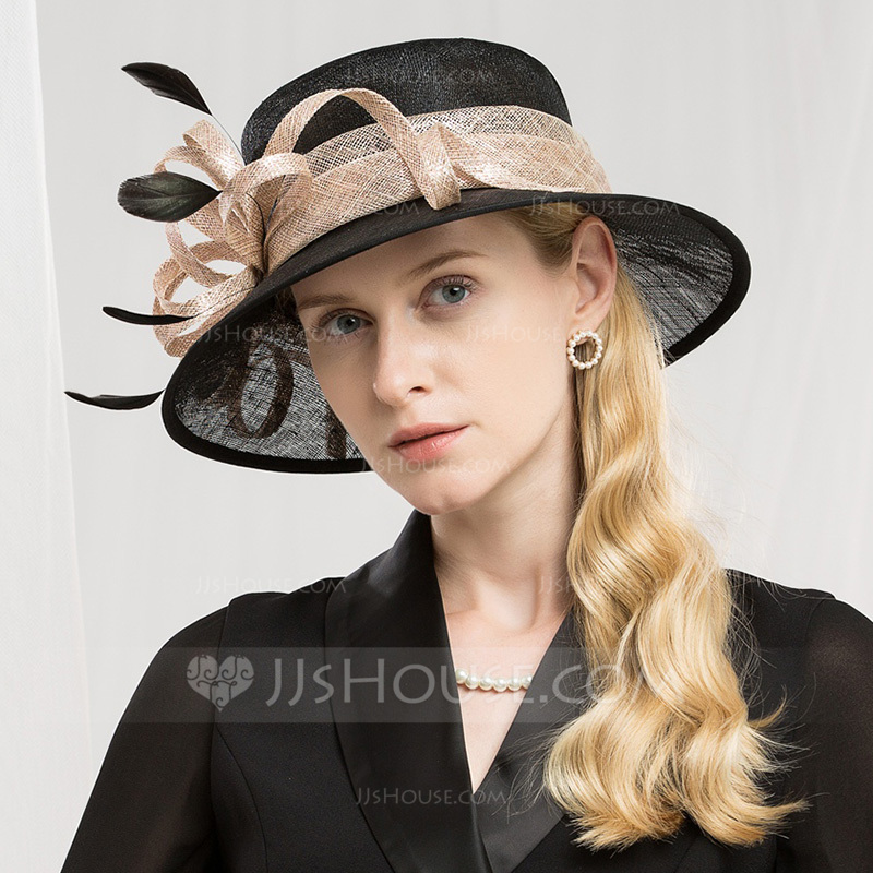 Ladies ' High Quality/Romantisk/Vintage Kambriske med Fjer Fascinators/Kentucky Derby Hatte/Tea Party Hats