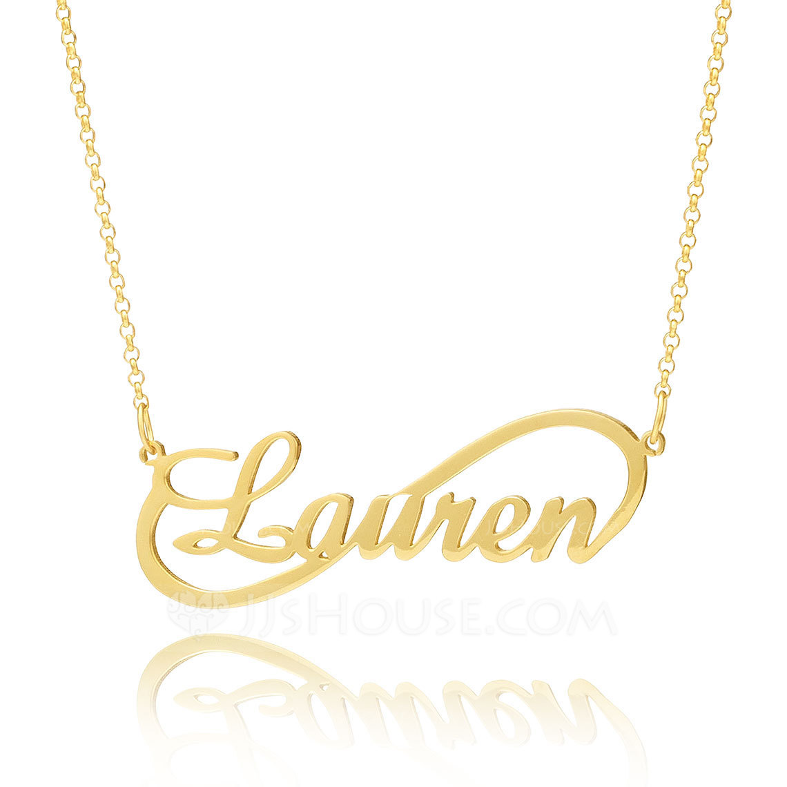 Custom 18k Gold Plated Silver Infinity Name Necklace Infinity Name Necklace - Birthday Gifts Mother's Day Gifts