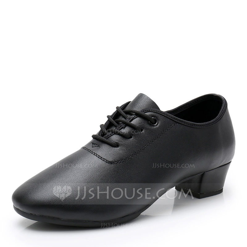 Women's Real Leather Ballroom With Lace-up Dance Shoes