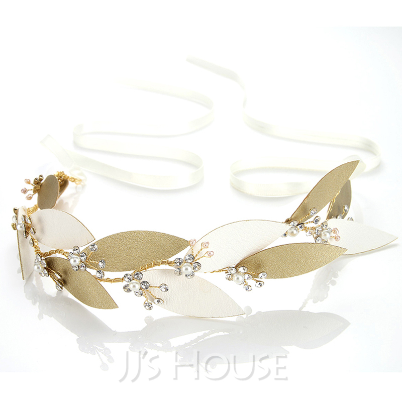 Ladies Simple Alloy Headbands With Pearl