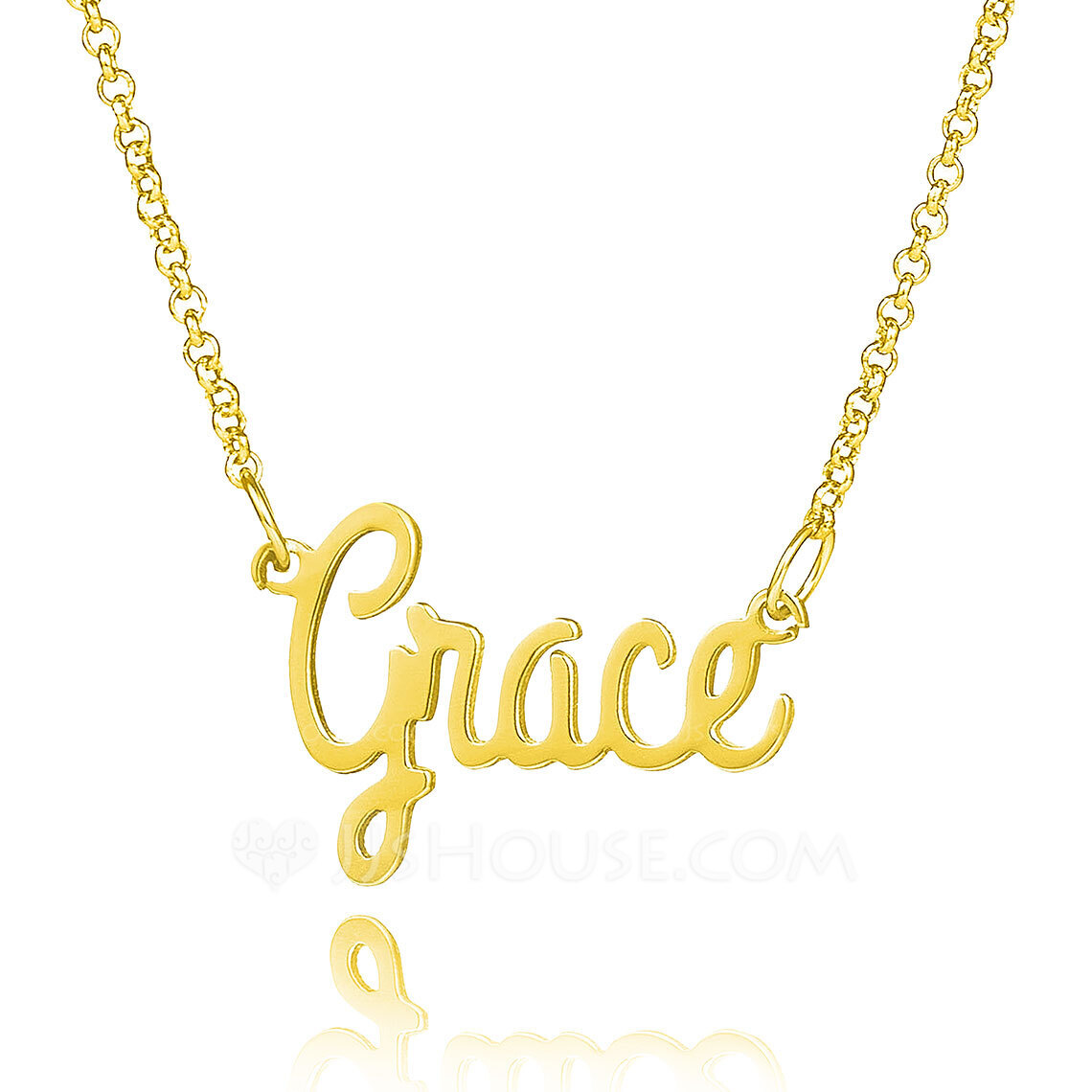 Custom 18k Gold Plated Silver Lowercase Name Necklace - Birthday Gifts Mother's Day Gifts