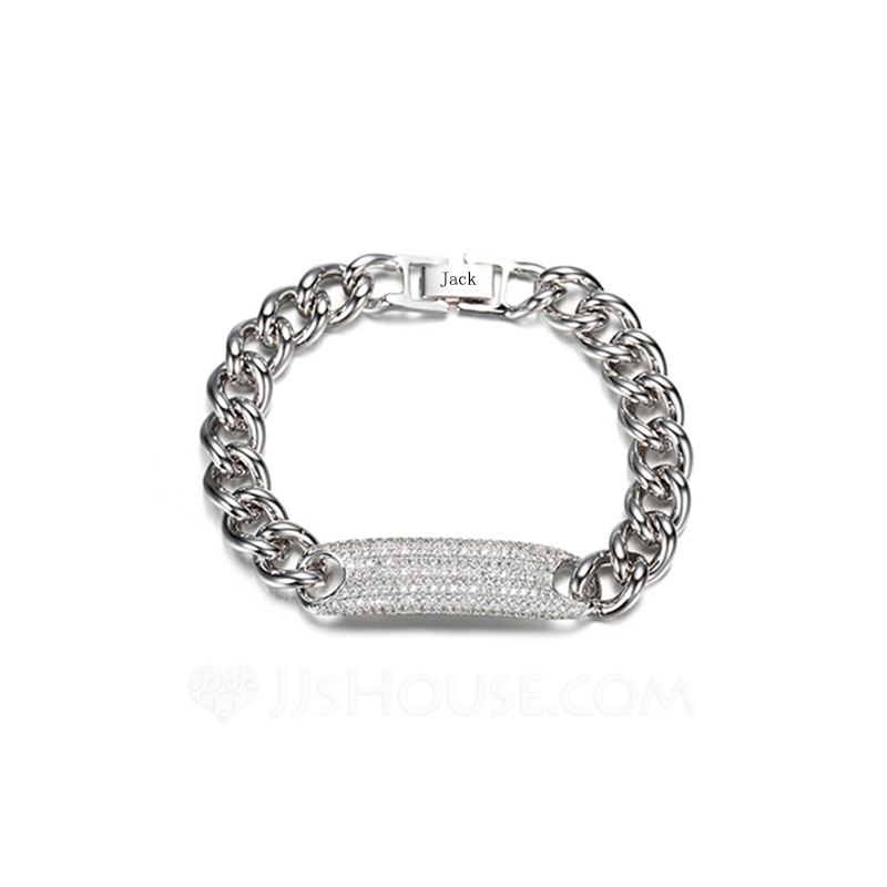 Personalized Las Charming Silver Plated Engraved Bracelets For Bride Bridesmaid Friends 011207696