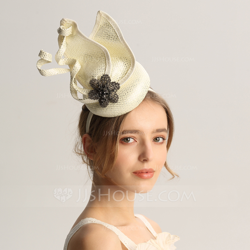 Ladies' Fashion/Special/Glamourous/Elegant/Unique/Fancy/Romantic/Vintage/Artistic Cambric With Rhinestone Fascinators/Kentucky Derby Hats