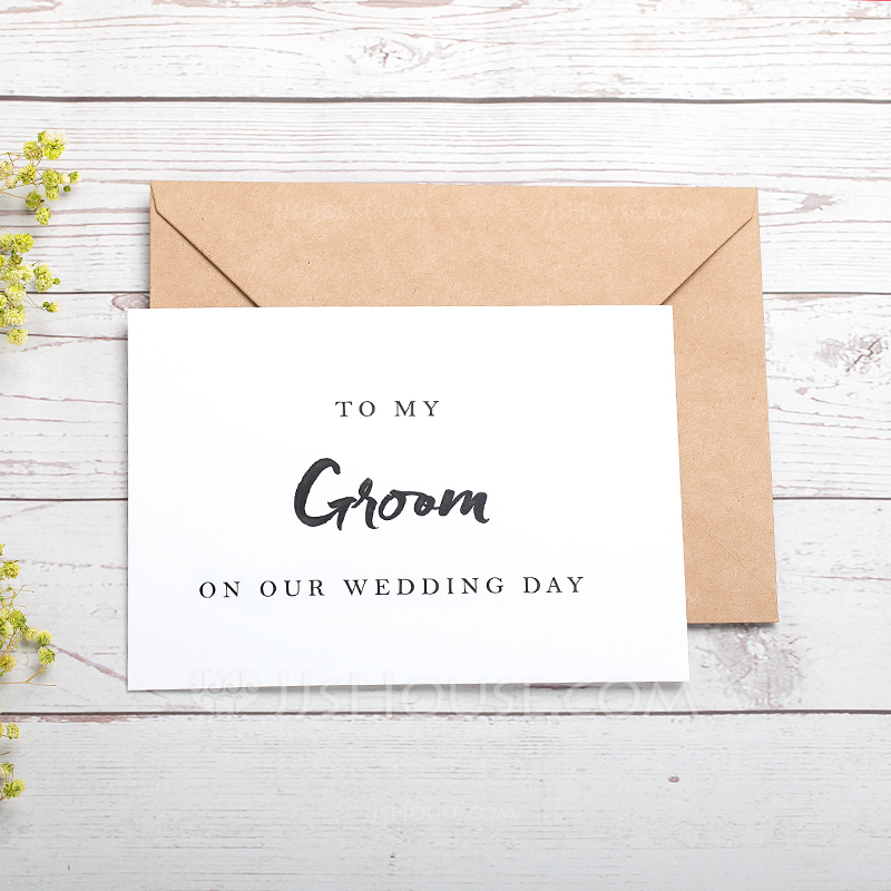 Groom Gifts - Elegant Card Paper Wedding Day Card