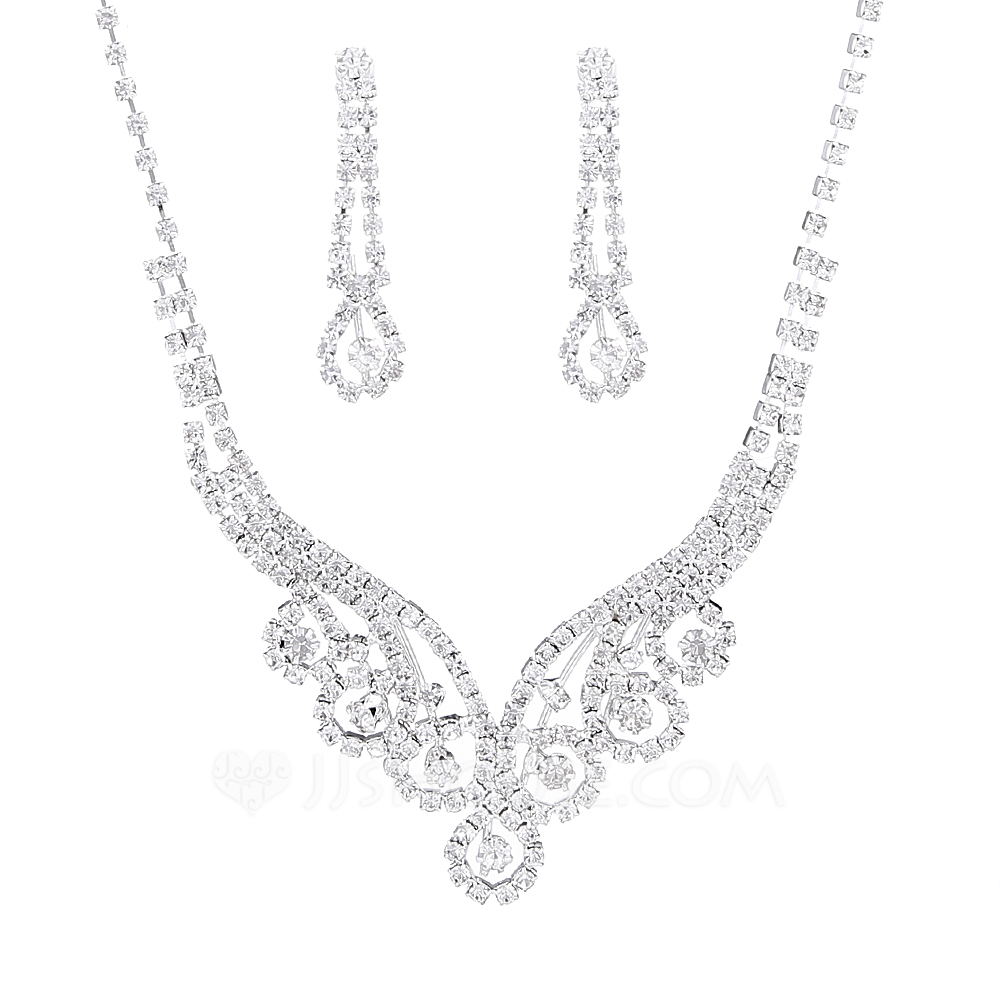 Ladies' Hottest Rhinestones With Cushion Jewelry Sets