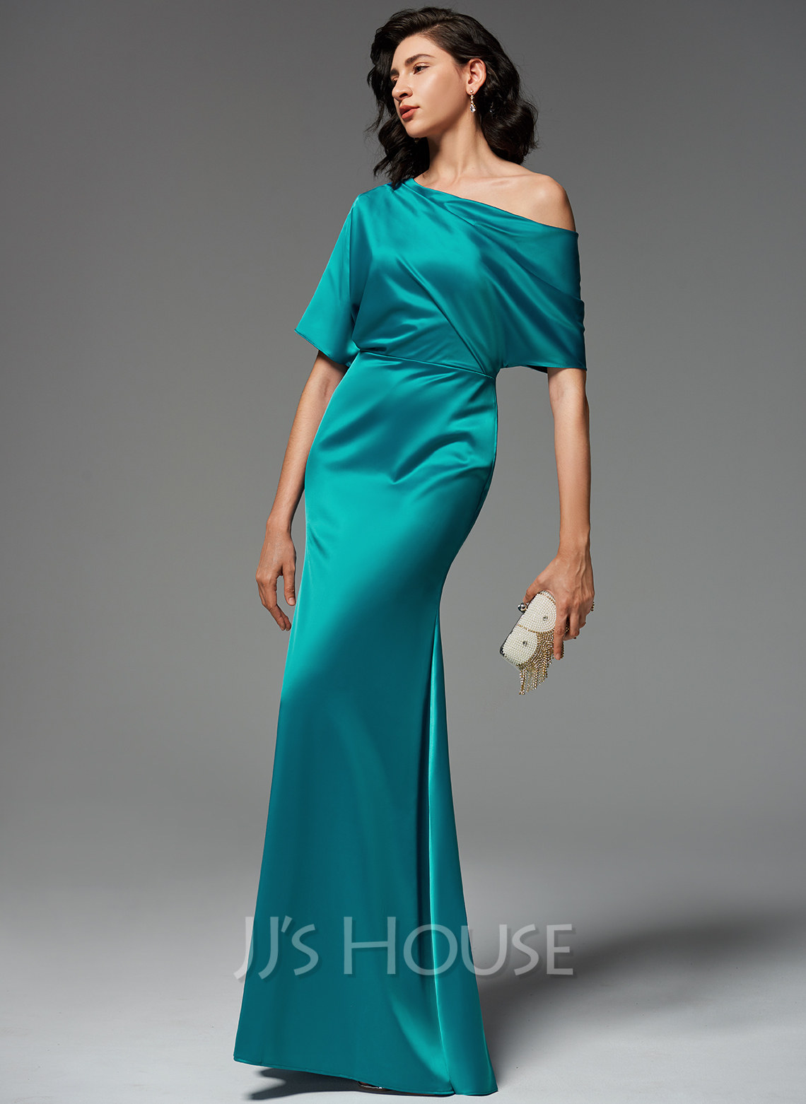Trumpet/Mermaid One-Shoulder Floor-Length Evening Dress With Ruffle