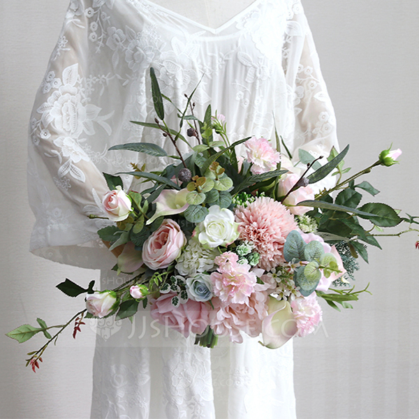 Blooming Free-Form Cloth Bridal Bouquets -