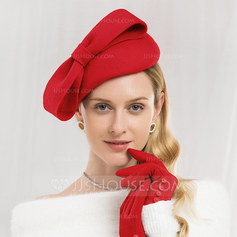 a66003997ad01 Ladies  Glamourous Exquisite Wool With Bowknot Beret Hat (196178772 ...