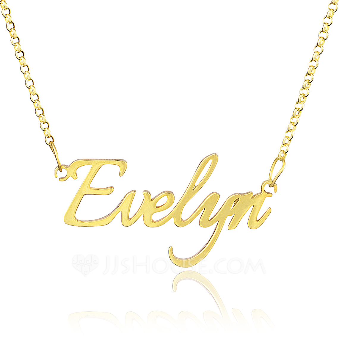 [Free Shipping]Custom 18k Gold Plated Silver Name Necklace