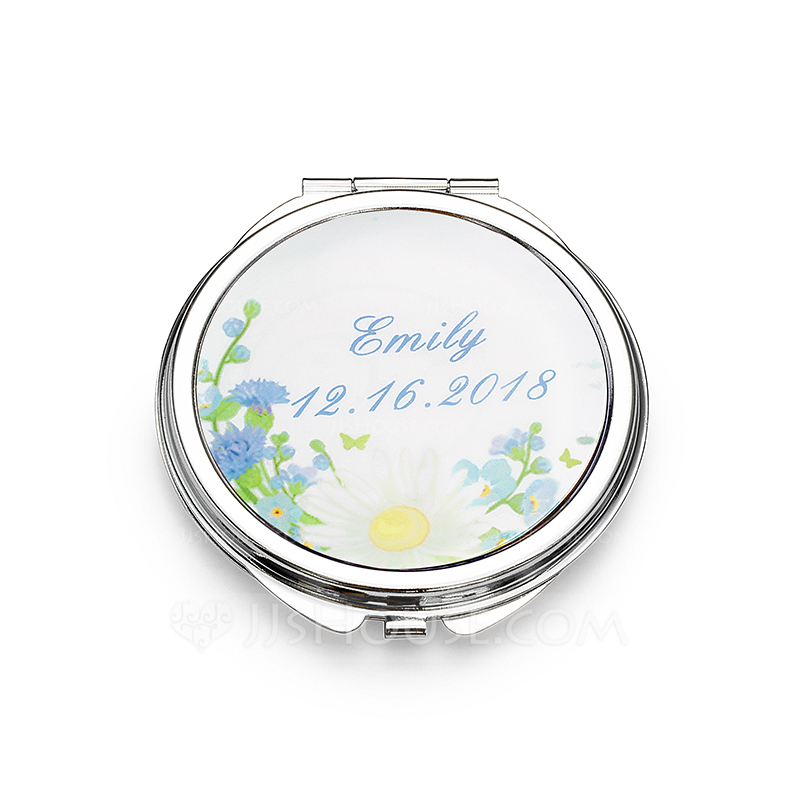 Bridesmaid Gifts - Personalized Stainless Steel Compact Mirror