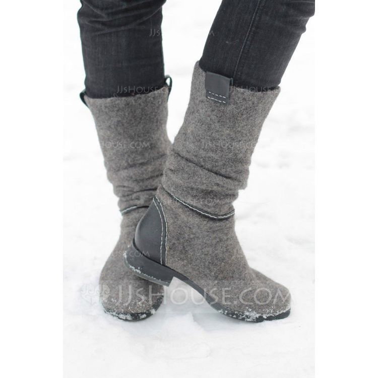 Women's Suede Low Heel Boots With Others shoes