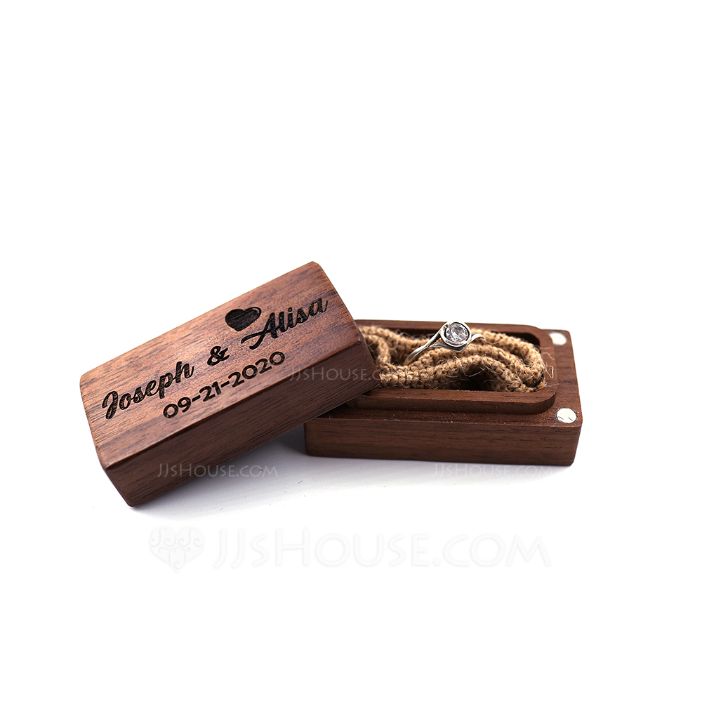 Grace/Gorgeous/Personalized Wood Ring Box