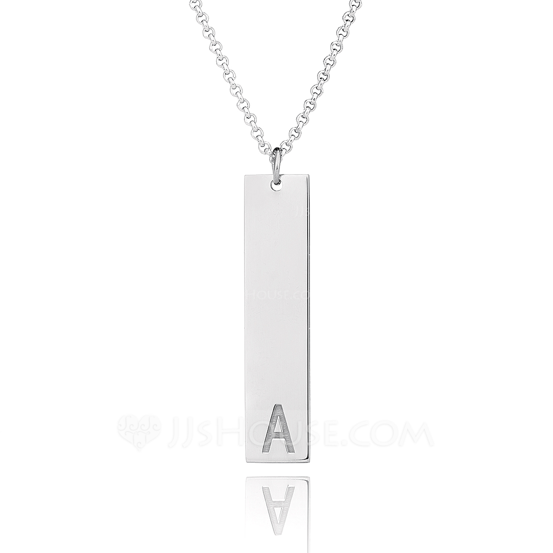 Custom Sterling Silver Letter Initial Necklace Bar Necklace - Christmas Gifts