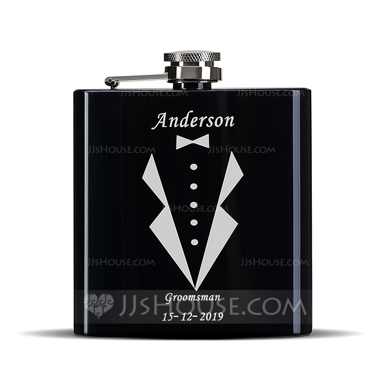 Groomsmen Gifts - Personalized Classic Stainless Steel Flask