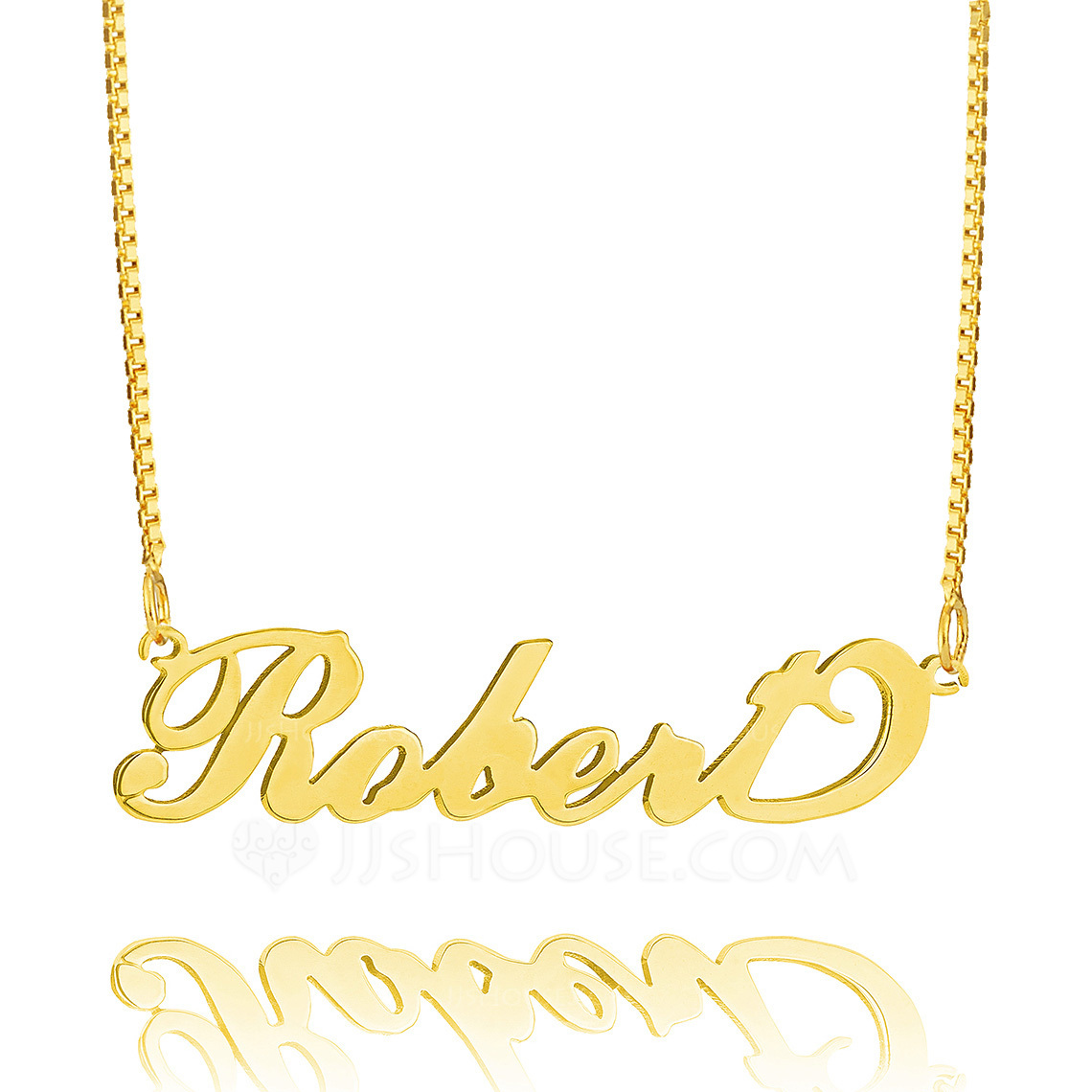 Custom 18k Gold Plated Silver 'Carrie' Style Script Name Necklace - Birthday Gifts Mother's Day Gifts