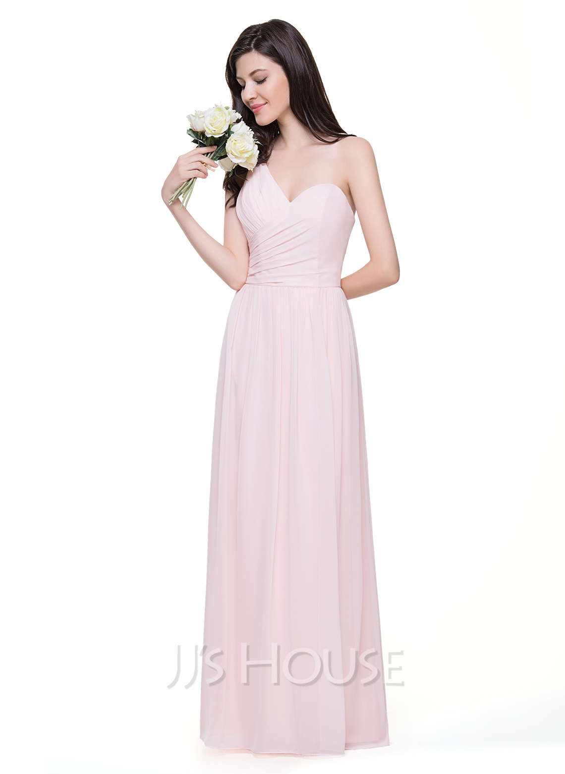 A lineprincess one shoulder floor length chiffon bridesmaid dress a lineprincess one shoulder floor length chiffon bridesmaid dress with ruffle loading zoom ombrellifo Gallery