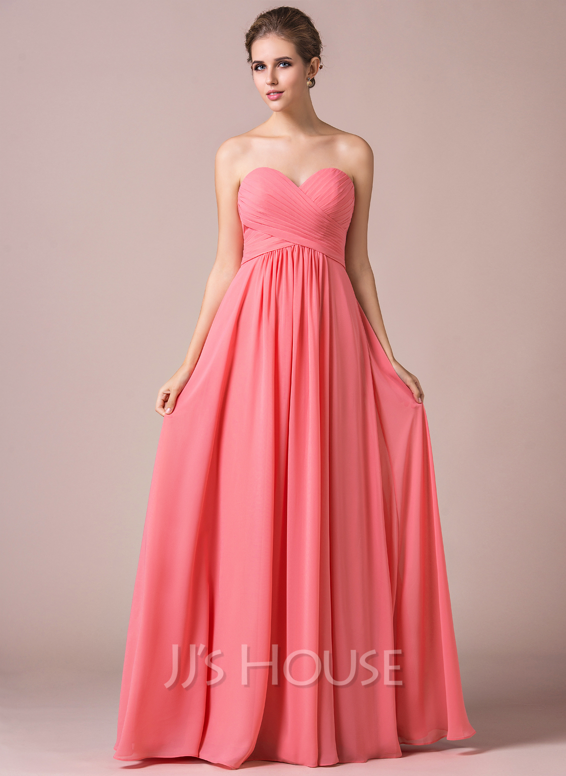 A lineprincess sweetheart floor length chiffon bridesmaid dress a lineprincess sweetheart floor length chiffon bridesmaid dress with ruffle loading zoom ombrellifo Image collections