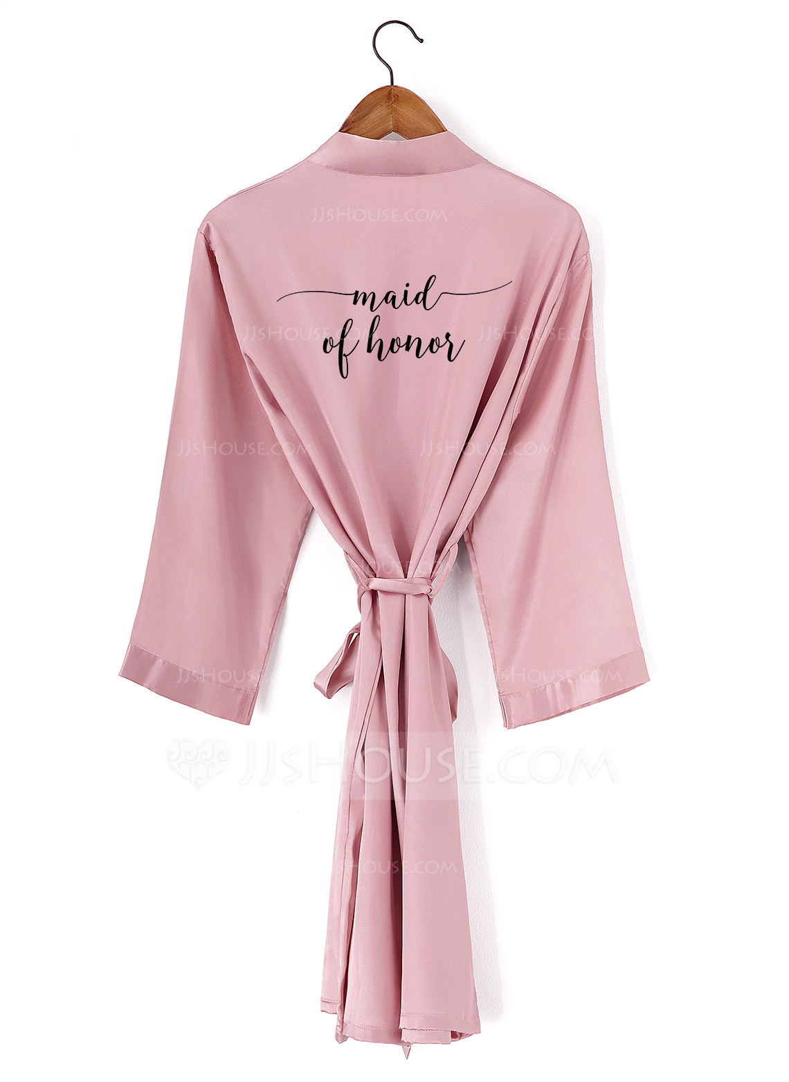 Non-personalized Charmeuse Bridesmaid Embroidered Robes