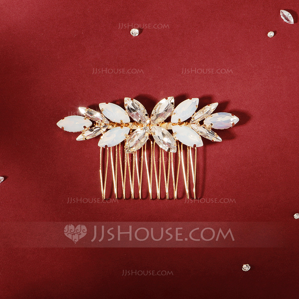 Ladies Charming Rhinestone Combs & Barrettes With Rhinestone (Sold in single piece)