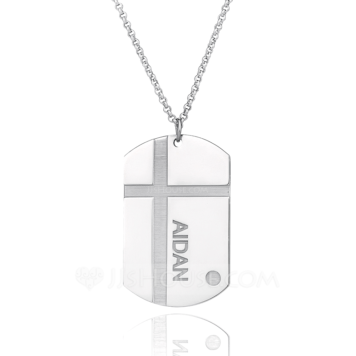 Custom Sterling Silver Engraved Necklace Nameplate - Christmas Gifts