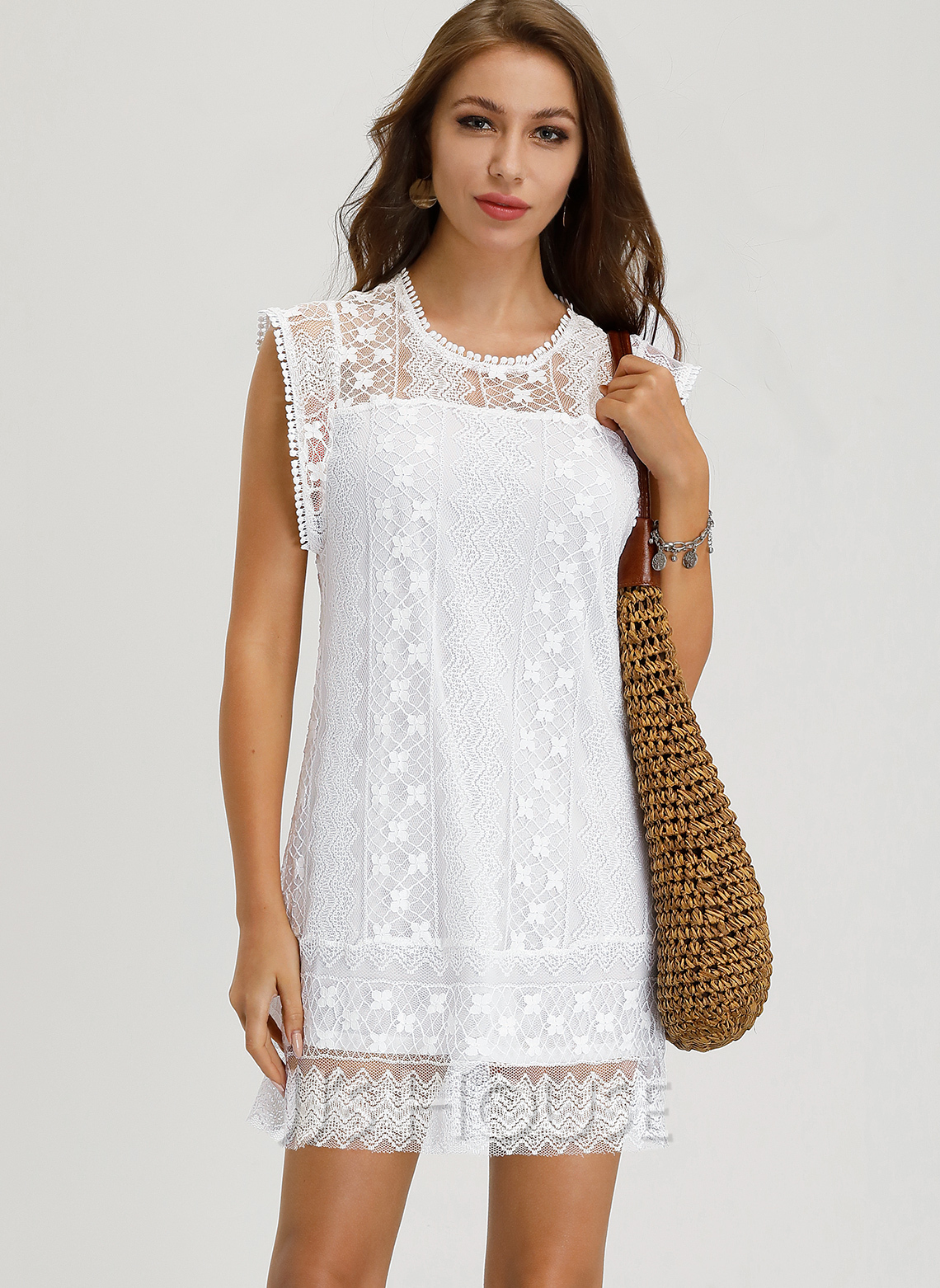 Lace Above Knee Dress