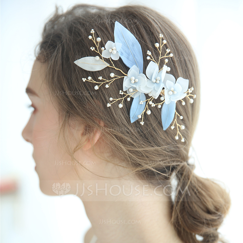 Ladies Glamourous Imitation Pearls/Beads/Voile Hairpins Venetian Pearl (Sold in single piece)