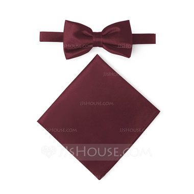JJ's House Satin Bow Tie & Pocket Square Set