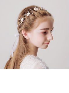 With Rhinestones/Flower Headbands (Sold in a single piece)