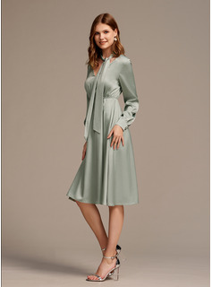 dusty rose dresses with sleeves