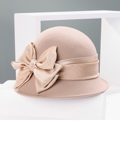 Ladies' Romantic Wool With Bowknot Bowler/Cloche Hats