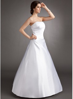82e5020c7f3 ... A-Line Princess Strapless Floor-Length Satin Quinceanera Dress With  Ruffle ...