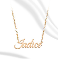 Custom 18k Rose Gold Plated Letter Name Necklace - Birthday Gifts