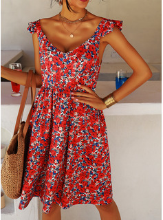 strapless high low dress casual