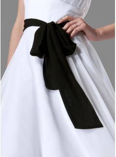 Simple Chiffon Sash With Bow