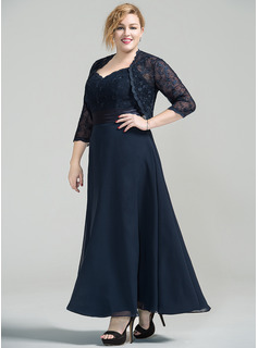 Sweetheart Ankle-Length Chiffon Lace Mother of the Bride Dress